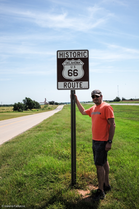 Me in the Route 66 in Oklahoma