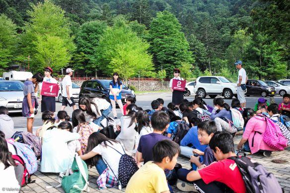 Lake Chūzenji: school class